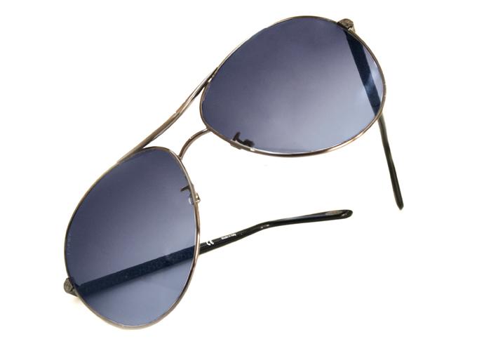 loewe 西班牙皇室品牌罗威经典皮革蛇纹太阳眼镜(蓝色